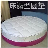 圆床床褥子垫被垫褥圆形防滑垫圆床垫被褥保护垫冬暖圆形保洁护垫 2.