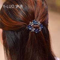 复古优雅镂空小号顶夹弹簧夹发卡发夹 新款花朵公主头头饰发饰