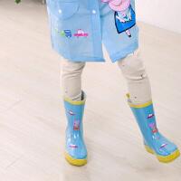 20190814015744048【新款特惠】 儿童橡胶雨鞋 中筒水鞋 防滑学生卡通套鞋