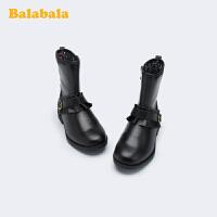 【10.22超品 3折价:89.7】巴拉巴拉女童马丁靴儿童靴子短靴2019冬季新款长筒靴小童鞋经典女