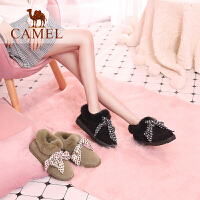 camel骆驼女鞋冬季新款 时尚韩版百搭短靴子休闲靴子平跟雪地靴女