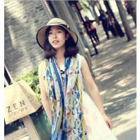 女士草帽 蝴蝶结小沿防 晒帽太阳帽子夏天 可折叠遮阳帽逛街出游韩版