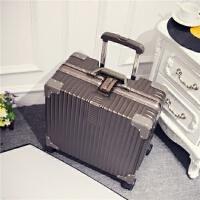 小清新16寸铝框拉杆箱18寸密码箱登机箱商务旅行箱小型登机箱拖箱 18寸【 登机尺寸-横款】