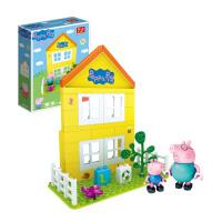 正版小猪佩奇邦宝益智大颗粒积木儿童男女孩玩具礼物佩奇的家6038