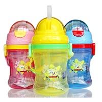 海绵宝宝水杯儿童吸管水壶男女童可爱防漏夏天饮水水杯宝宝喝水杯 .