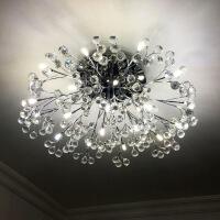 欧式客厅大灯轻奢水晶灯创意餐厅现代简约led吸顶灯金色卧室灯具