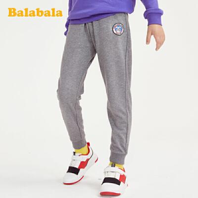 巴拉巴拉男童裤子春装中大童运动裤韩版百搭简约儿童长裤宽松洋气