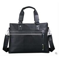 电脑包 男包 真皮男士手提包 横款商务公文包 单肩斜挎包背包包