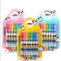 魔笔小良宝宝涂鸦水彩笔安全可水洗自动消失褪色笔7色彩绘笔