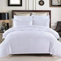 五星酒店被套单件棉宾馆床上用品简约被单被罩1.8米床双人