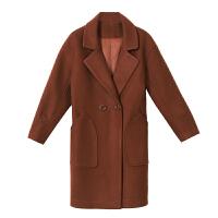 毛呢外套女中长款韩版2018流行大衣新款宽松时尚保暖秋冬呢子外套