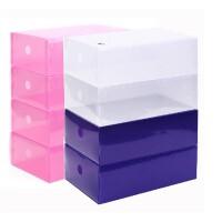 10只装塑料鞋盒透明男女鞋柜加厚组合抽屉式鞋盒子放鞋子的收纳盒多选项选择 10个装透明男鞋盒 -白色