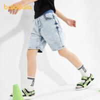 【3件4.5折:40.5】巴拉巴拉童装裤子男童休闲裤牛仔裤儿童短裤夏装中大童男