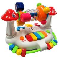 婴儿童早教摇铃旋转床铃6-12个月男孩女宝宝益智力玩具1-2-3周岁