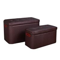 皮艺长方形收纳凳储物凳可坐凳子门厅换鞋凳沙发凳收纳整理箱