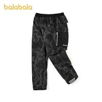 【3件5折价:100】巴拉巴拉男童长裤儿童裤子冬装童装中大童迷彩工装裤时尚