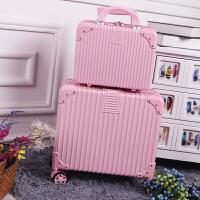 时尚18寸可爱登机箱迷你行李箱女16寸小清新皮箱拉杆箱复古旅行箱 18寸