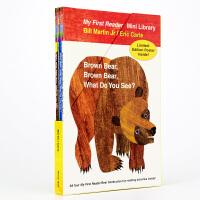 Brown Bear What Do You See棕色的熊4册套装 英文原版 棕熊棕熊你看见了什么