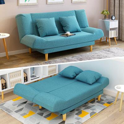 亿家达小户型布艺沙发可折叠客厅整装懒人沙发单人双人折叠沙发床