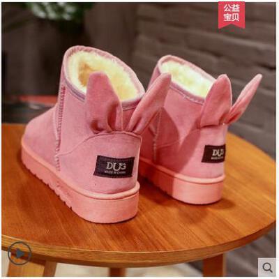 雪地靴女短筒短靴平底冬季新款加绒保暖棉鞋韩版百搭学生女鞋