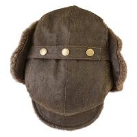 帽子男冬天时尚韩版潮户外雷锋帽加厚鸭舌帽保暖帽防风护帽耳帽