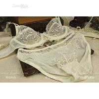 欧美女文胸套装性感蕾丝蝴蝶结透肤内衣大尺码透明