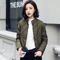 眨眼轻薄羽绒服女短款韩版修身新款冬装立领外女装羽绒衣