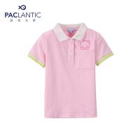 派克兰帝品牌童装  夏装女童短袖T恤-POLO衫