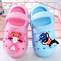 夏季女童1-4岁防滑宝宝洞洞鞋 男童儿童鞋婴幼儿凉拖沙滩拖鞋夏