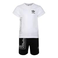 adidas originals阿迪三叶草2019男小童BANDANA TEE SET短袖套服DW3839