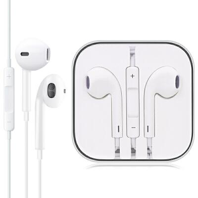 毕亚兹苹果耳机iPhone5s/6/6s/7/7p/8plus/X/Xs/Xr/max手机入耳式通用男女生ipad重低音炮耳塞扁头有线控带麦