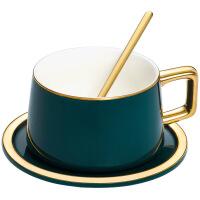 【家装节 夏季狂欢】欧式创意家用小奢华咖啡具杯套装陶瓷杯子男女马克杯带勺茶杯 咖啡杯+碟子+勺子礼盒包装161