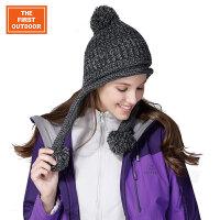 美国第一户外 保暖柔软针织护耳无檐帽男女通用