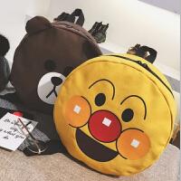 儿童书包 卡通可爱布朗熊面包超人宝宝上学包2020新款儿童双肩包幼儿园书包
