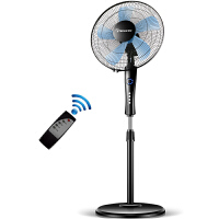 【当当自营】赛亿Shinee FS40-7A 电风扇 五叶遥控升降家用落地扇 静音节能电扇