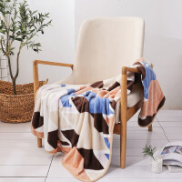 家纺毛毯单人法兰绒午睡空调毯盖毯薄款毛巾被办公室小毯子 100×140cm