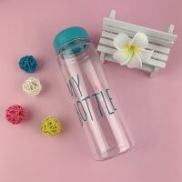My bottle透明随手杯方形塑料杯磨砂玻璃柠檬水杯子礼品广告定制 500ML