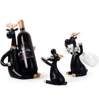 创意红酒架摆件家用酒柜装饰品酒瓶收纳架葡萄酒架摆件酒杯架倒挂Q