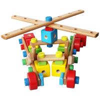 丹妮奇特儿童益智积木制螺母组合拼拆装螺丝螺母组合玩具8518