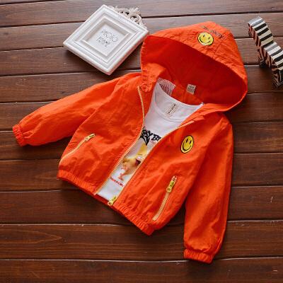 新款儿童宝宝休闲防晒服外套春季男童笑脸冲锋衣1-2-3-4岁外套装 发货周期:一般在付款后2-90天左右发货,具体发货时间请以与客服协商的时间为准