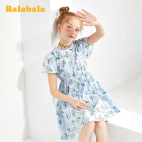 【3.5折价:83.65】巴拉巴拉女童裙子儿童连衣裙夏装大童公主裙洋气淑女印花裙甜美女