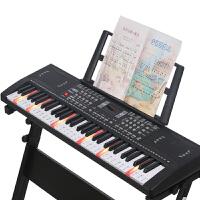 智能电子琴61键初学3-6-12岁男女孩钢琴带话筒儿童乐器音乐玩具