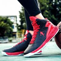 春夏季男鞋高帮篮球鞋实战水泥地透气男防滑男运动鞋学生球鞋女鞋