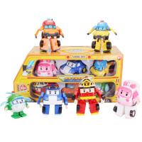 变形警车波利机器人珀利警长儿童玩具罗伊救援poli变形套装
