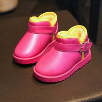 雪地靴女童靴子公主秋2017新款加绒男童保暖短长靴豆豆棉鞋