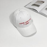 201808220554007572018年新款棒球帽子夏天女韩版百搭休闲潮人弯檐鸭舌帽男学生太阳帽 西瓜红 shop
