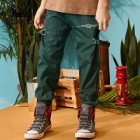 【2件3折:60】巴拉巴拉旗下 巴帝巴帝男童长裤19春新款户外工装两色裤子中大