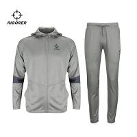 准者篮球服套装男子拉链连帽训练服健身跑步卫衣运动套装缩口卫裤