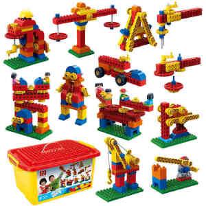 【当当自营】邦宝大颗粒邦宝益智创意拼插积木玩具早教必备简单机械与结构6538