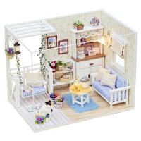 迷你diy小屋手工制作��意拼�b玩具房子模型送女孩男生日�Y物女生